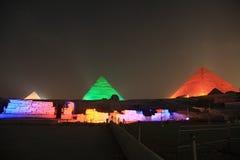 Giza-Pyramiden Lizenzfreies Stockbild