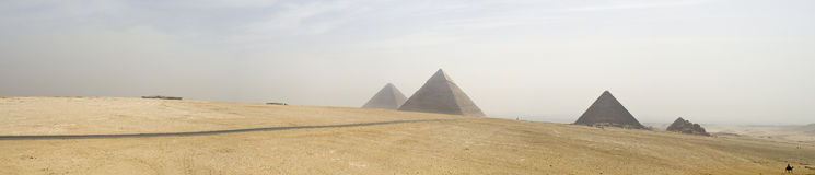 Giza-Pyramiden Stockfotos