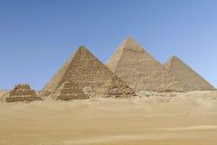 Giza-Pyramiden Lizenzfreie Stockfotografie