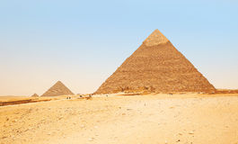 giza pyramider egypt Fotografering för Bildbyråer