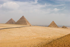 Giza pyramids Stock Photography
