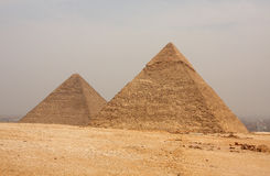 Giza pyramids. Pyramids of Giza (Cairo, Egypt Royalty Free Stock Photo