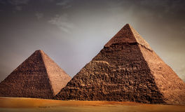 Giza pyramids Stock Images