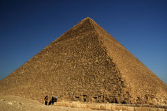 Giza Pyramids. The largest of the 3 pyramids on the Giza Plateau. Built by Cheops 5000 years ago Stock Photos