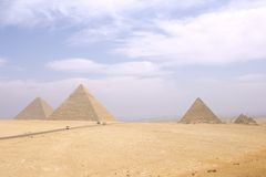Giza Pyramids Royalty Free Stock Photo