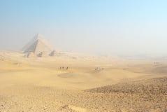 The Giza Pyramids Background Stock Image