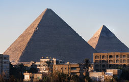 Giza pyramids, Cairo Royalty Free Stock Photo