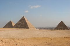 Giza Pyramids in Cairo Stock Photos