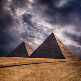 Giza pyramids in Cairo Egypt. Image of the pyramids on the Giza plateau. Cairo, Egypt Stock Images