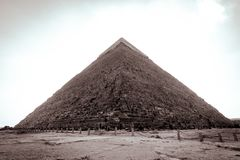 Giza Pyramids in a clear day Stock Image