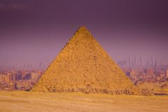 Giza Pyramids in a clear day Royalty Free Stock Photos