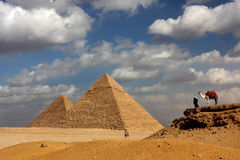Giza Pyramids royalty free stock photos