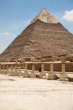 Giza pyramids Royalty Free Stock Photo