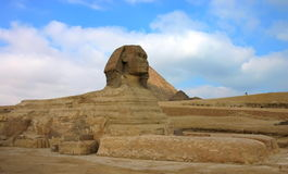Giza pyramids and sphinx. Egypt. Stock Photo