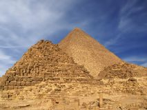 Giza pyramigs Stock Photography