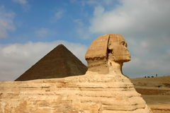 Giza sfinks ostrosłupy i. Egipt. Obrazy Royalty Free