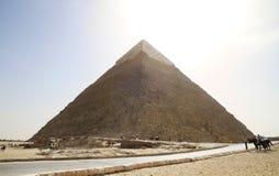 giza stor pyramid Arkivfoton