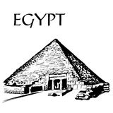 giza stor pyramid stock illustrationer