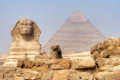 giza stor sphinx Royaltyfri Fotografi