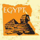 giza stor sphinx stock illustrationer