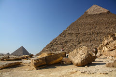 giza stora pyramider Arkivfoton