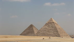 giza stora pyramider egypt stock video