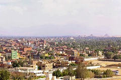 Giza suburb. Giza residential neighbourhood from plateau at sunny day Stock Photo