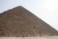 Gizah伟大的金字塔在开罗,埃及 库存图片