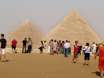 Gizapiramide, Kaïro, Egypte Stock Foto