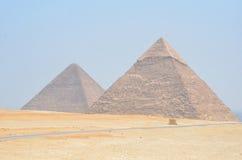 Gizeh吉萨棉金字塔  免版税图库摄影