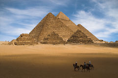 gizeh πυραμίδες Στοκ εικόνα με δικαίωμα ελεύθερης χρήσης