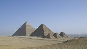 Gizeh Pyramids in Cairo, Egypt Stock Photos