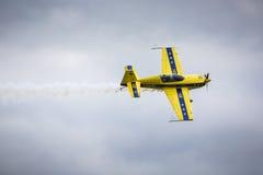 GIZYCKO,波兰- 8月02 :8月的Mazury AirShow 2015年事件 免版税库存照片