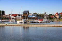 Gizycko marina Royalty Free Stock Images
