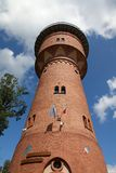 Gizycko, Poland. Old brick water tower in Gizycko, Poland Royalty Free Stock Photography