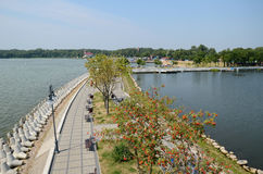 Gizycko Poland. The shore of Lake Niegocin in Gizycko Poland Royalty Free Stock Images