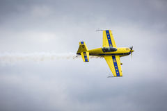 GIZYCKO POLEN - AUGUSTI 02: Mazury AirShow händelse 2015 på Augusti Royaltyfria Foton