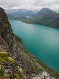 gjende η λίμνη Νορβηγία NP Στοκ Φωτογραφίες