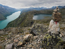 Gjende and Bessvatnet lakes, Norway Royalty Free Stock Images