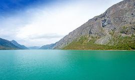 Gjende is a lake in the Jotunheimen mountains Royalty Free Stock Photography