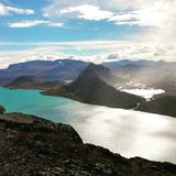 Gjendevatnet. Mountains of Norway Stock Photography