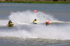 G震动Jetski赞成游览2014年泰国国际Watercross G 库存照片