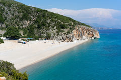 Gjipe beach in Albania. Beautiful and lonely gjipe beach in southern Albania Stock Image