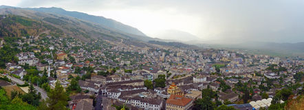 Gjirokastër - Albanien Royaltyfri Fotografi
