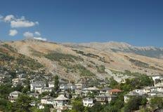 Gjirokast�r,南阿尔巴尼亚 库存照片