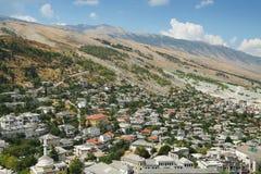 Gjirokast�r,南阿尔巴尼亚 免版税库存图片