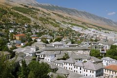 Gjirokaster,南阿尔巴尼亚 库存图片