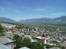 Gjirokaster,阿尔巴尼亚看法  免版税库存图片