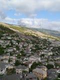 Gjirokaster, Albania. From the Hotel Kodra towards the mountains Stock Photography