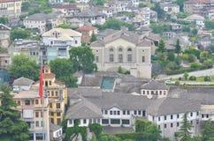Gjirokaster, Albania. Old and famous stronghold city Gjirokaster in Albania Royalty Free Stock Photos